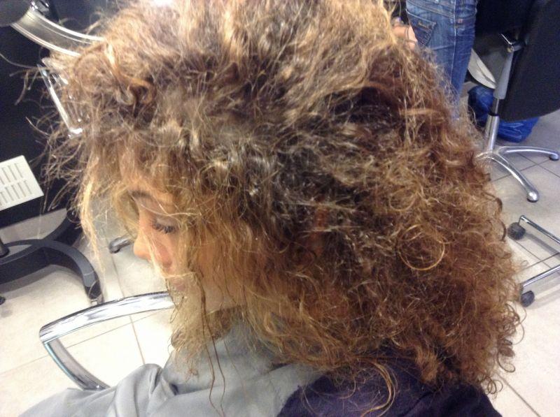 coiffure cheveux secs